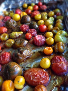 alt Roasted heirloom tomatoes