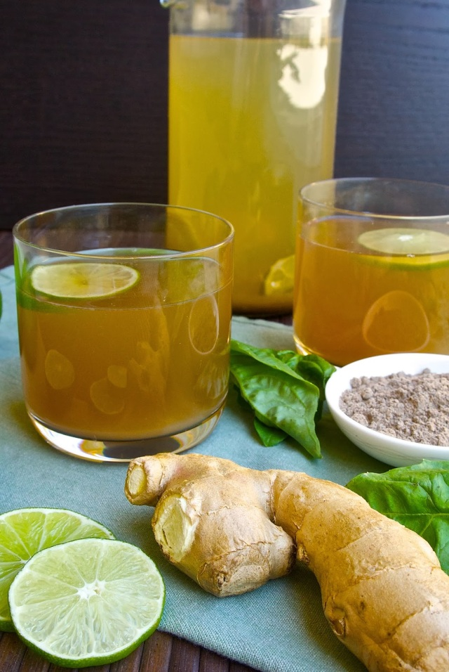 Basil ginger tea